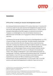 Pressemitteilung OTTO auf Platz 1 im Ranking der deutschen ...