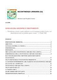 incontinenza urinaria (IU) - Evidence Based Nursing