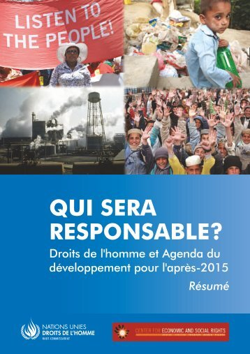 QUI SERA RESPONSABLE? - Center for Economic and Social Rights
