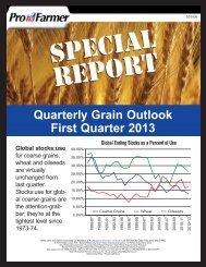Quarterly Grain Outlook First Quarter 2013 - AgWeb