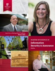 to download the brochure - Online Master of Science in Information ...
