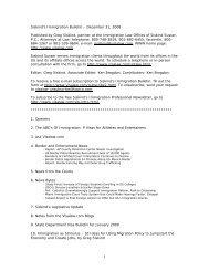 Siskind's Immigration Bulletin – December 31, 2008 - Siskind, Susser