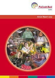 Annual Report 2003 - ProCredit Bank