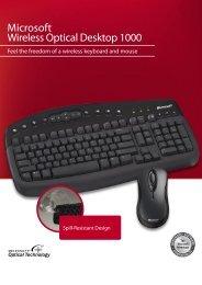 Microsoft® Wireless Optical Desktop 1000