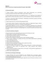 Regulamin Warunki Uczestnictwa w Programie Sprzedaży ...