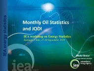 Monthly Oil Statistics and JODI