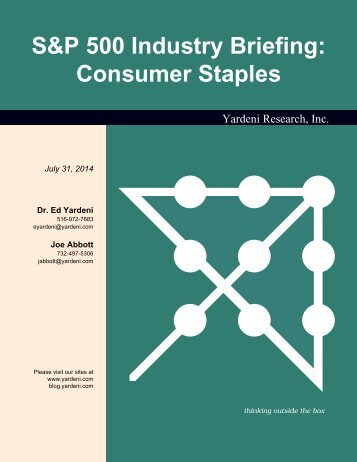 S&P 500 Industry Briefing: Consumer Staples - Dr. Ed Yardeni's ...