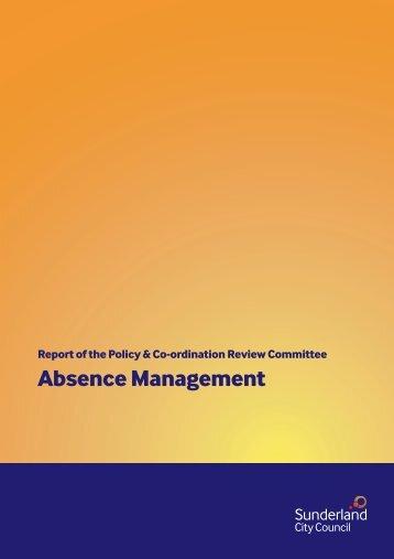 Absence Management [234kb] - Sunderland City Council