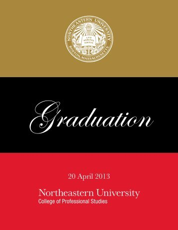 read the graduation program. - Northeastern University College of ...