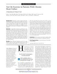 Tai Chi Exercise in Patients With Chronic Heart ... - ResearchGate