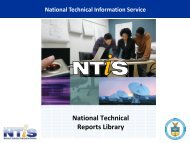 More Information about NTRL - National Technical Information Service