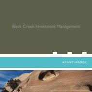 Black Creek Investment Management - CI Investments