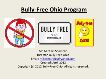 Bully-Free Ohio Program