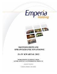 Raport Kwartalny SA-QSr 4/2012 - Emperia