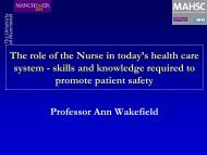 The role of the Nurse in today's health care system - skills and ...