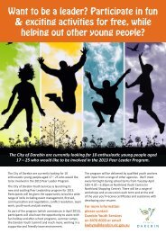 Want to be a leader? Participate in fun & exciting ... - City of Darebin