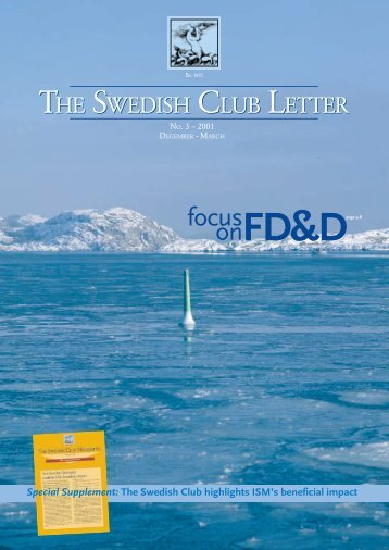 TSC letter no.3 2001 - The Swedish Club