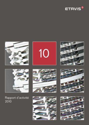 Rapport d'activité 2010 - Etavis