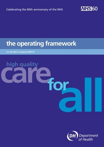 the operating framework - NHS Connecting for Health