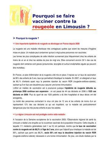 Pourquoi se faire vacciner contre la rougeole en ... - ARS Limousin
