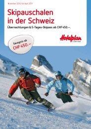 Skipauschalen in der Schweiz Übernachtungen & 5 ... - Heggli AG
