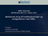 Bankernes brug af kreditoplysninger og mulighederne med XBRL