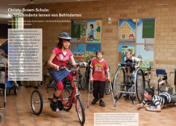 M.: Christy-Brown-Schule: Nichtbehinderte lernen von Behinderten.