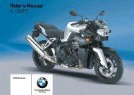 Rider's Manual K 1200 R - K100.biz