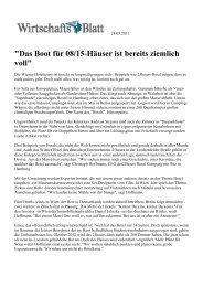 110524 Wirtschaftsblatt - Superbude Hotel * Hostel * Hamburg