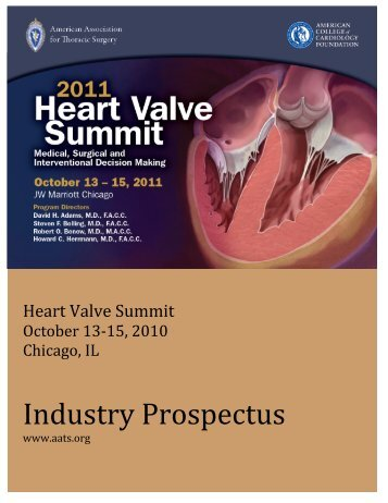 Heart Valve Summit 2011 - American Association for Thoracic Surgery