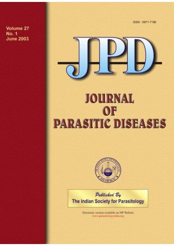 Vol 27 No 1 June - The Indian Society for Parasitology