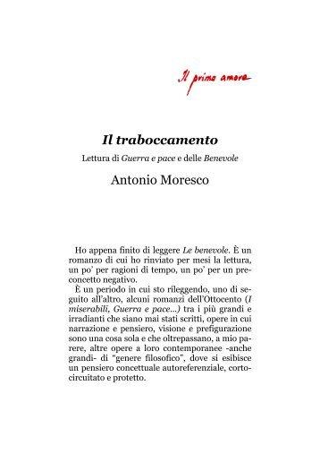 Il traboccamento Antonio Moresco - Il primo amore
