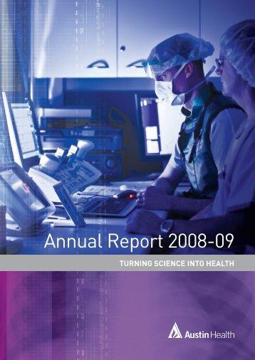 Annual Report 2008-09 - Austin Health