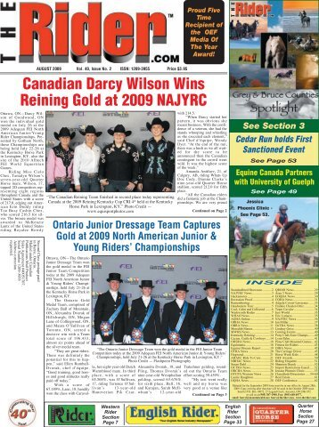 Canadian Darcy Wilson Wins Reining Gold at 2009 ... - The Rider
