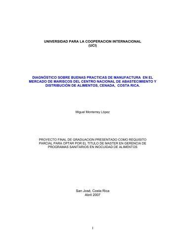 (uci) diagnóstico sobre buenas practicas de manufactura en el ...