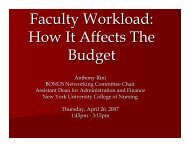Faculty Workload: How It Affects The Budget - AACN