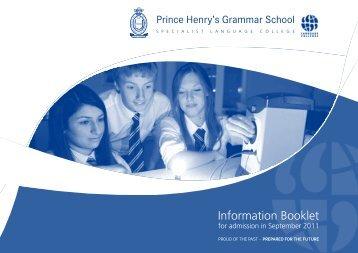 information Booklet - Prince Henrys Grammar School