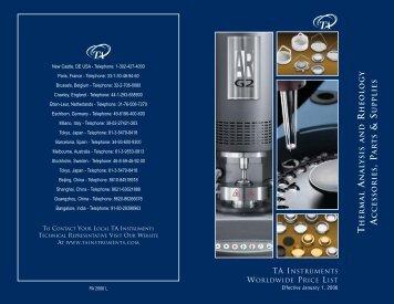 2006 P&A revL - TA Instruments