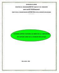 CBD Third National Report - Benin (French version)