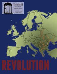 The Hill Nonpartisan Political Review. Vol. 13 Issue 5. Revolution in Europe.