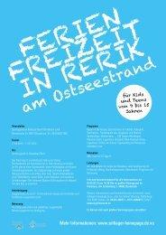 Flyer Rerik 2013 - Kreissportbund Osnabrück-Land e.V.