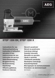 STEP 1200 BX, STEP 1200 X - Castorama