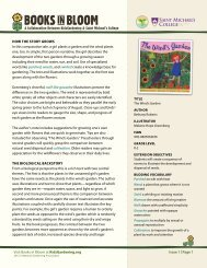 Visit Books in Bloom at KidsGardening.org Issue 1 | Page 1 how ThE ...