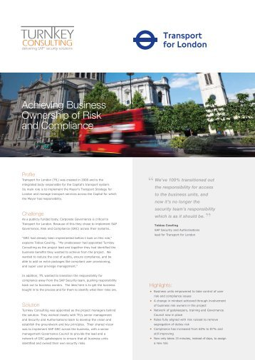 Download the Transport for London case study to find out more