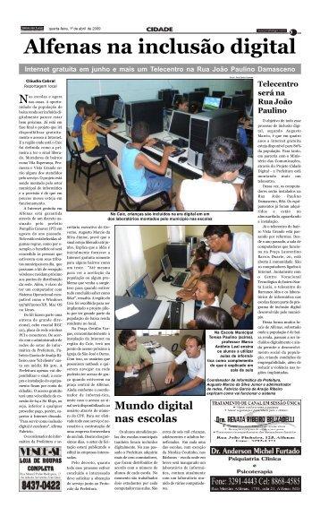Alfenas na inclusão digital - Jornal dos Lagos