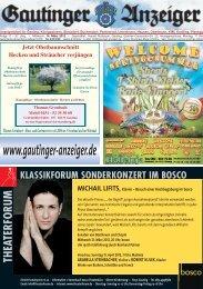 Ausgabe 11/2012 Zusammen für Gauting - Herzlich willkommen