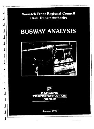 BUSWAY ANALYSIS