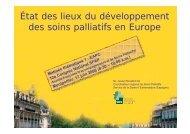 État des lieux du développement des soins palliatifs en Europe