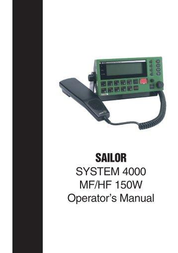 Operation Manual - Regina - Sail Training