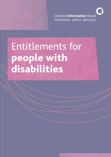 Entitlements for people with disabilities - Citizens Information Board